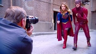 Download Supergirl meets The Flash - Behind the scenes Video
