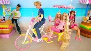 Download Doll Bike Trailer ; Barbie Beach Taxi Poupée Barbie Vélo de plage Strand Fahrrad Boneka Sepeda Video