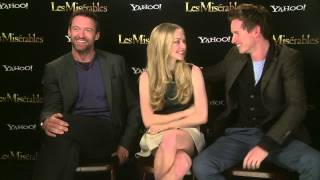 Download Les Miserables interview with Hugh Jackman, Eddie Redmayne and Amanda Seyfried Video
