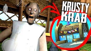 Download MODDING GRANNY'S HOUSE Into The KRUSTY KRAB Map... (Granny Horror Game + Krusty Krab Roleplay) Video