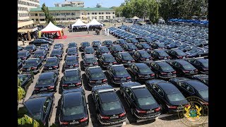 Download President Akufo-Addo presents 200 vehicles to Ghana Police Service Video