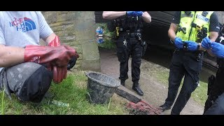 Download UK magnet fishing with Goz and Jim | Gun and hoard of ammunition found | Police called! Video