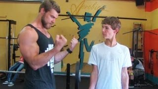 Download Teen Beginners Bodybuilding Training - Upper Body - Chest, Arms, Shoulders Video