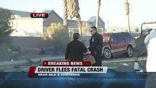 Download Driver flees fatal North Las Vegas crash Video