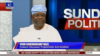 Download Omisore Laments Bad Governance In Osun State Pt 1 | Sunday Politics | Video