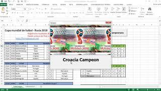 Download Mundial de Fútbol en Excel - Rusia 2018 Video