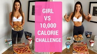 Download 10,000 Calorie Challenge | Girl VS Food | EPIC CHEAT DAY Video