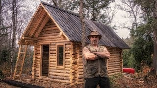 Download Man Builds Off Grid Log Cabin Alone in the Canadian Wilderness Video