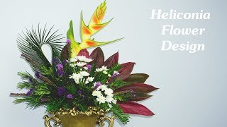 Download How To MAKE Arrange Heliconia flower,Limonium sinuatum for Event ?111 Video