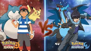 Download Pokemon Sun and Moon: Ash Vs Alain (Ash Best Team) Video