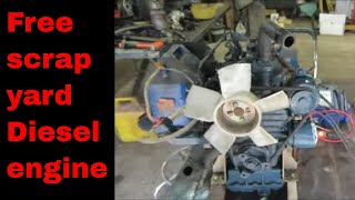 Download Will IT Run? Junked small Diesel engine. Video