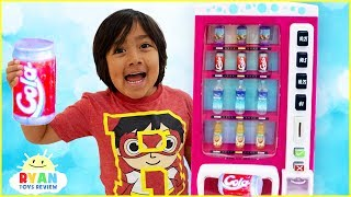 Download Ryan Pretend Play with Vending Machine Soda Kids Toys!!! Video
