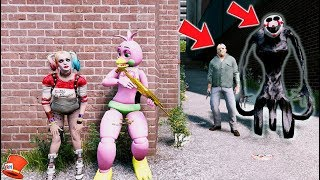 Download CAN THE ANIMATRONICS & HARLEY QUINN HIDE FROM REAPER PUPPET & JASON? (GTA 5 Mods For Kids FNAF) Video