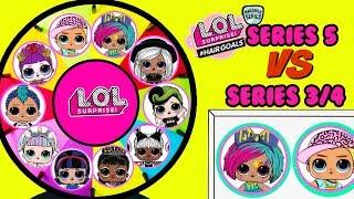 Download LOL Surprise Hair Goals VS Underwraps + Confetti Pop SPINNING WHEEL GAME Toy Surprises Video