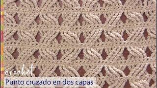 Download Punto cruzado en 2 capas tejido a crochet / Tejiendo Perú Video