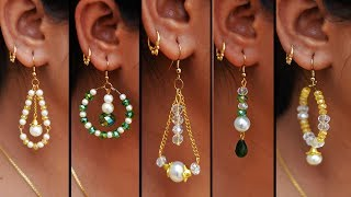 Download 5 easy Pearl & Crystal Earring Design | DIY | 5 min Craft | Hand made jewelry | Art with Creativity Video