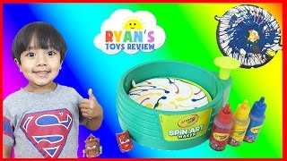 Download Crayola Spin Art Maker Paint Toy For Kids with Disney Cars Toys Video