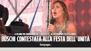 Download Referendum, Boschi contestata alla Festa dell'Unità di Milano Video
