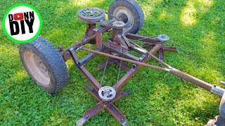 Download Mechanical Ground Driven Mower Made From JUNK! Video