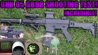 Download GHK G5 Gas Blowback Rifle Shooting Test!: Chrono, Accuracy, Damage Test Video
