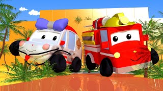 Download Adventure in the Pyramid - Tiny Town: Street Vehicles Ambulance Police Car Fire Truck Video