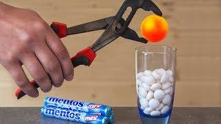 Download EXPERIMENT Glowing 1000 Degree METAL BALL VS MENTOS Video