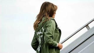 Download Melania Trump visits immigrant children wearing jacket that says 'I really don't care, do u? Video