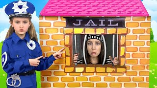 Download Sasha plays as Cop Police and Max go to Jail Playhouse Toy Video