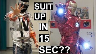 Download Real-life Iron Man Suit Frame Assembly In 15 SECONDS! - Animatronic Suit PART1 Video