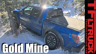 Download Ford F-150 Raptor vs Gold Mine Hill Snowy Off-Road Misadventure Video