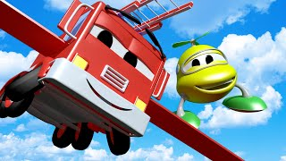 Download Baby Frank the Fire Truck Wants to FLY! with the Baby Cars in Car City ! - Cartoon for kids Video