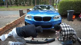 Download Fitting M Performance Carbon Spoiler and Splitter - BMW M235i/M240i Video