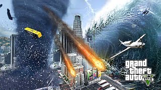 GTA 5 - The GREATEST Tsunami EVER!! (1000ft High Waves) Free
