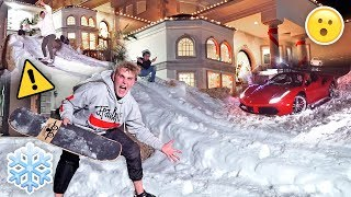 Download HOMEMADE GIANT SNOW SLIDE AT TEAM 10 MANSION {30 MPH} Video