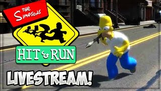 Download THE SIMPSONS HIT AND RUN LIVE! Classic Games Lets Play w/ iCrazyTeddy Live Video