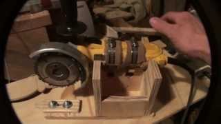 Download Homemade Wood lathe Duplicator using an angle grinder Video