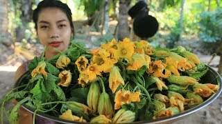 Download Yummy cooking flower of pumpkin recipe - Cooking skill Video