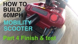 Download How to build a 60MPH MOBILITY SCOOTER #4 Finish and test Video