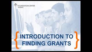 Download Introduction To Finding Grants Video
