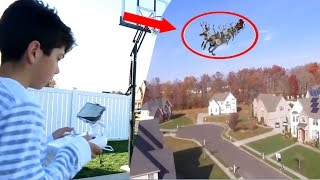 Download I CAUGHT SANTA CLAUS ON TAPE ON MY DRONE! HUNTING FOR SANTA! *I FOUND HIM* Video