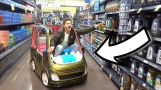 Download SHOPPING IN A TOY CAR! Video
