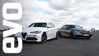 Download Alfa Romeo Giulia Quadrifoglio v Mercedes-AMG C 63 S Coupe | evo head to head Video