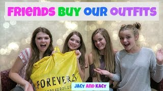 Download FRIENDS BUY EACH OTHER OUTFITS CHALLENGE ~ w/ AllAroundAudrey & JustJordan33 ~ Jacy and Kacy Video