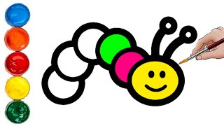 Download Como dibujar y colorear un GUSANO dibujos fáciles para niños y niñas Video
