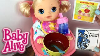 Download Crawling Baby Alive Go Bye-Bye Doll Morning Routine Feeding and Diaper Change Video