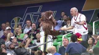 Download Jazz Bear Gets Even With Houston Rockets Beer Guy Video