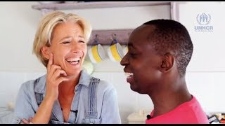 Download Emma Thompson wants you to get to know her son Tindy's story for World Refugee Day 2015 (Part 1) Video