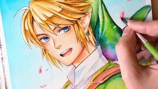 Download Link (Legend of Zelda) 【WATERCOLOR SPEEDPAINT】 Video