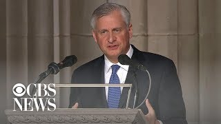Download Presidential historian Jon Meacham delivers eulogy at George H.W. Bush funeral Video