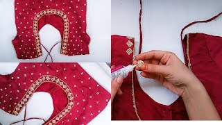 Download How To Make Designer Blouse At Home||Stone work Blouse Design Video